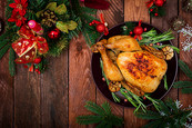 christmas-table-served-with-turkey-decor
