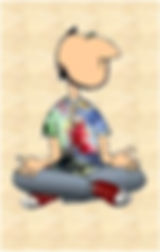 A man sitting in meditation.  This represents the Meditation groups held by Steve and Amy Hounsome at Tarot Therapy Ltd in Poole, Dorset, UK.