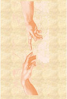 Mediumship. The hand of spirit and man come together in energy connection.  Steve Hounsome at Tarot Therapy offers Mediumship / Psychometry Readings in person, by phone or Skype.  Available to all, worldwide!