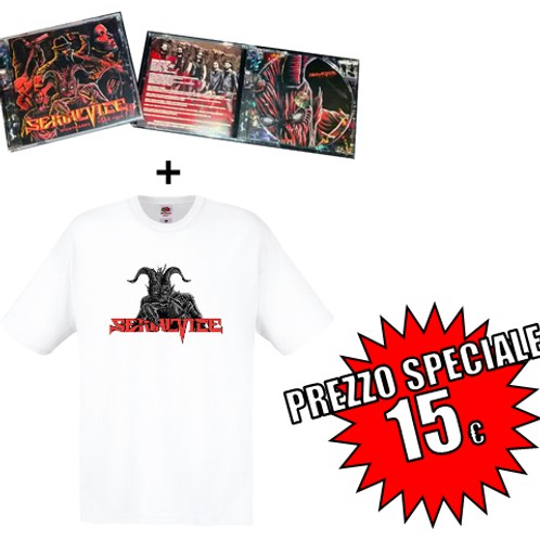 NIGHTMARES COME TRUE (2017) Audio CD + White T-shirt with official logo