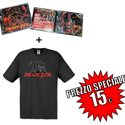 NIGHTMARES COME TRUE (2017) Audio CD + Black T-shirt with official logo