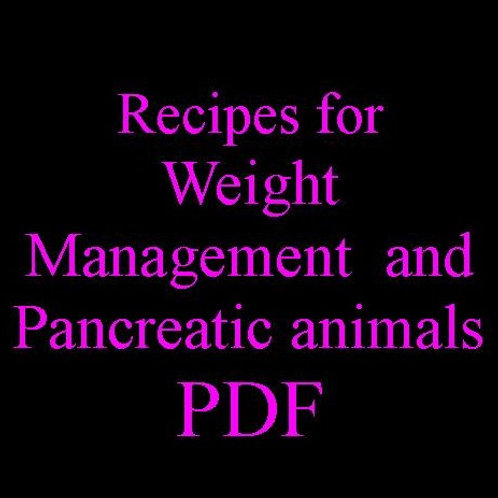 Pancreatic & Weight Management Recipes