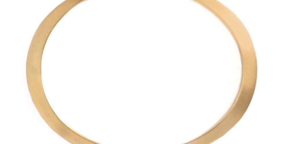 Gold Oval Bangle Bracelet