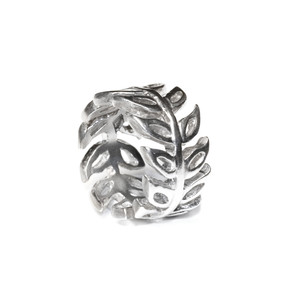 Silver Leaf Ring by Timeless Metals