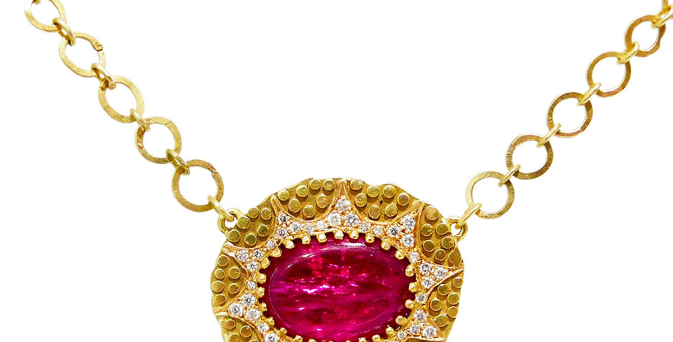Ruby Slice Star Necklace