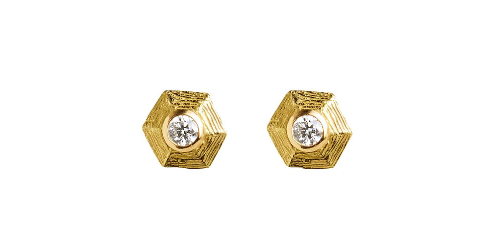 Diamond Hex Stud