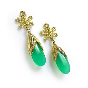 Angelica Cammarota Chrysoprase Hollywood Earrings