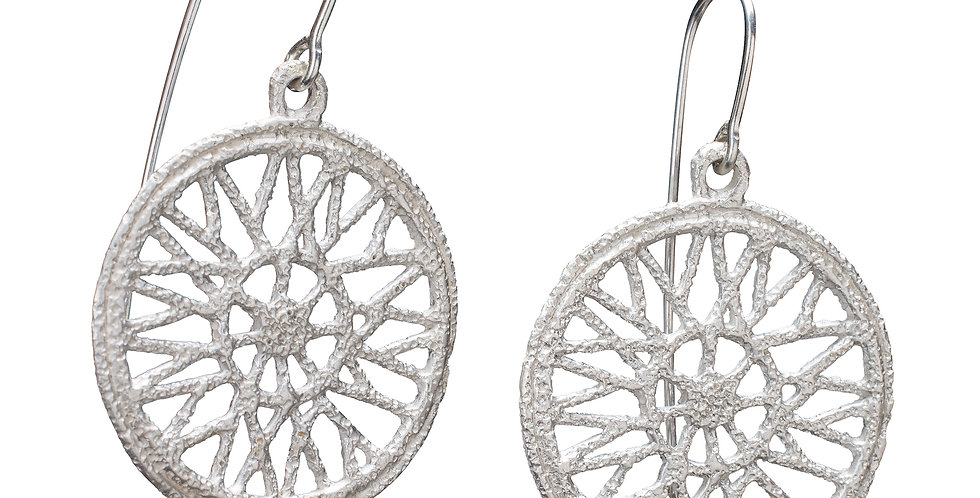 Silver Cycle Earrings