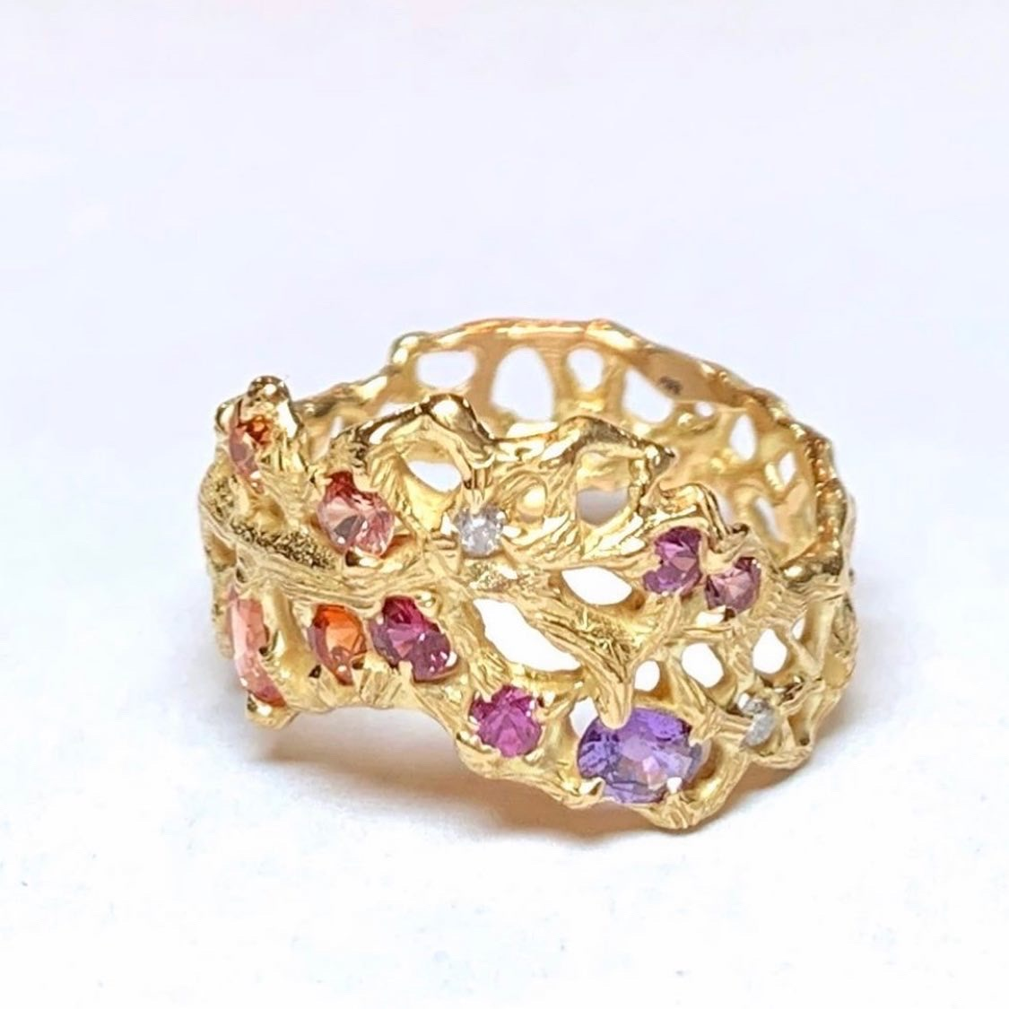 Laura Caspi Sapph Throne Ring