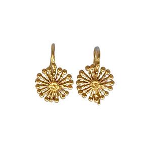Gold Fire Wheel Earrings by Dori Friedberg