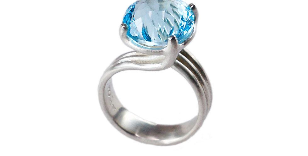 Sandrine B. Jewelry- Blue Topaz Wisteria Ring