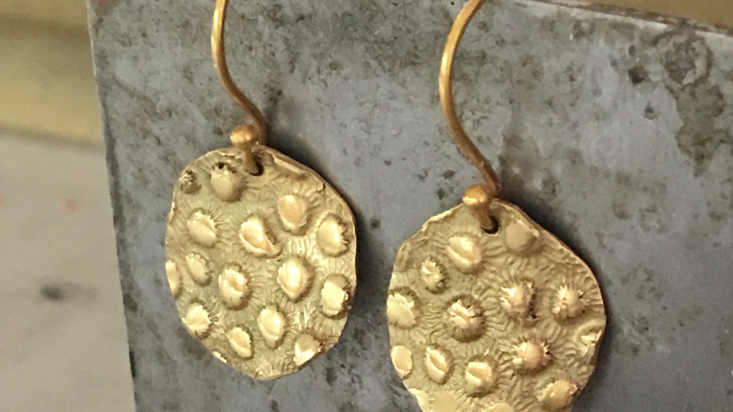 Susan Meier Gold Jingle Earrings