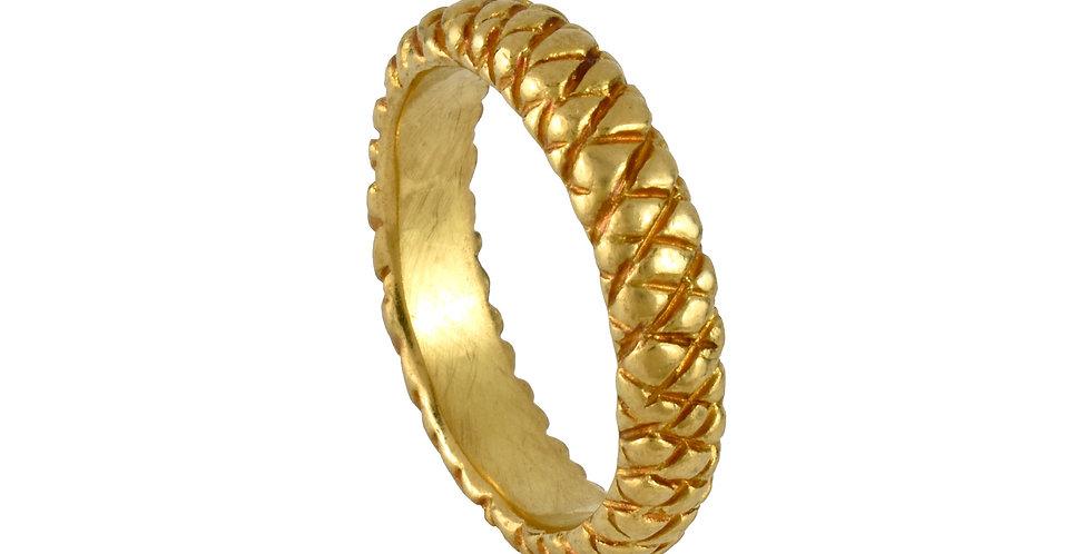 Pineapple Textured 22k Unisex  Ring