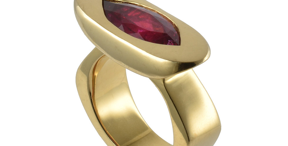 Marquise Rubellite Ring