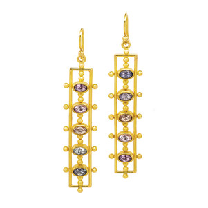 Sapphire and 22k Gold Earrings