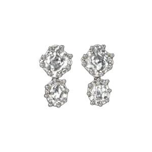 Mejia Jewelry Silver Free form stud dangle earrings