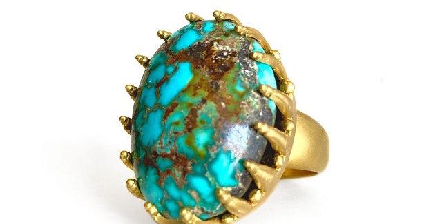 Matrix Persian Turquoise Ring