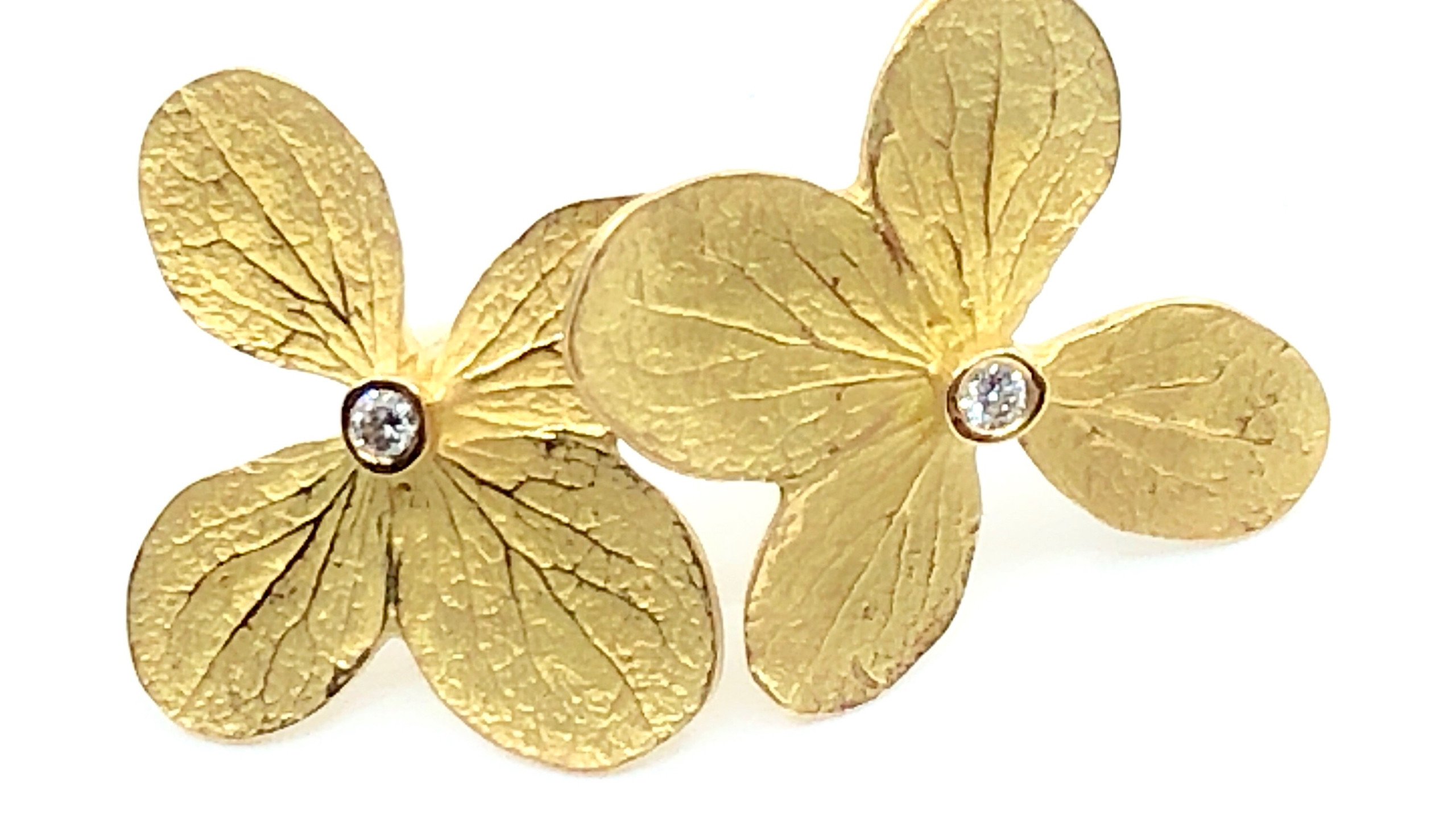Ruth Edelson Flower Earrings
