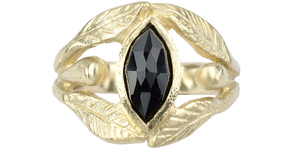 La Marquise Black Spinel Ring