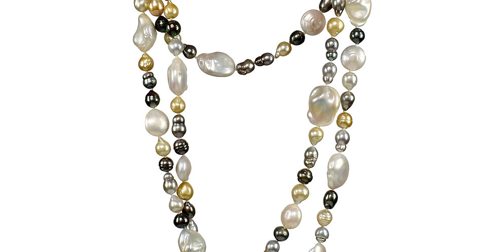 Infinity Multi-color Pearl Necklace
