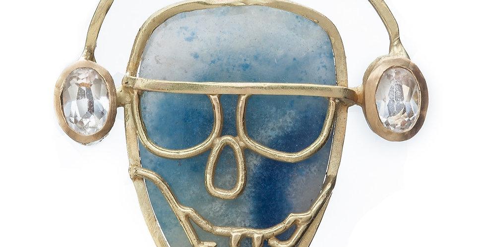 Paraiba Quartz Skeleton Pendant
