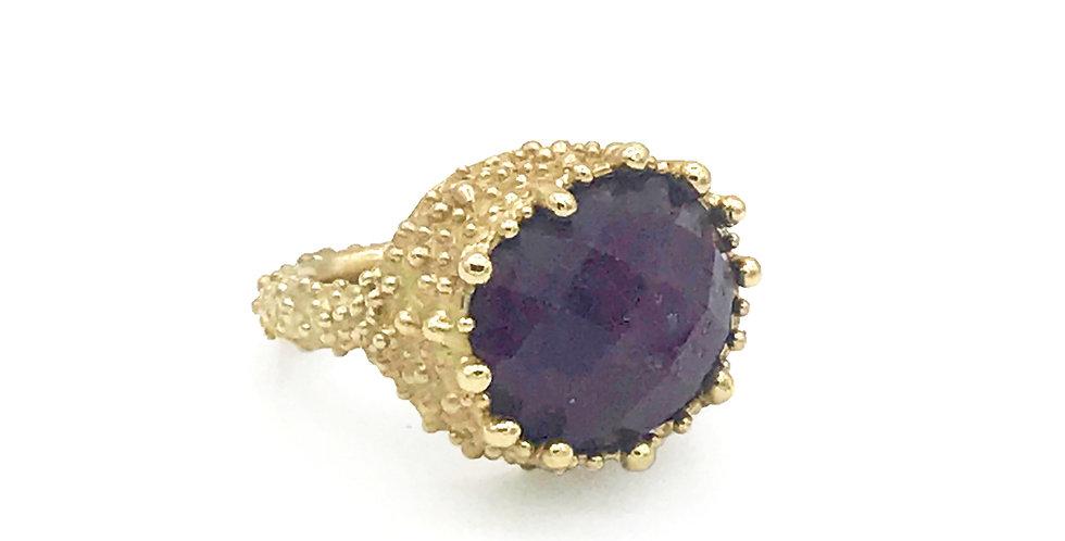 Ruby Crown Ring