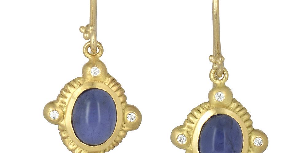 Gemstone Picture Frame Earrings