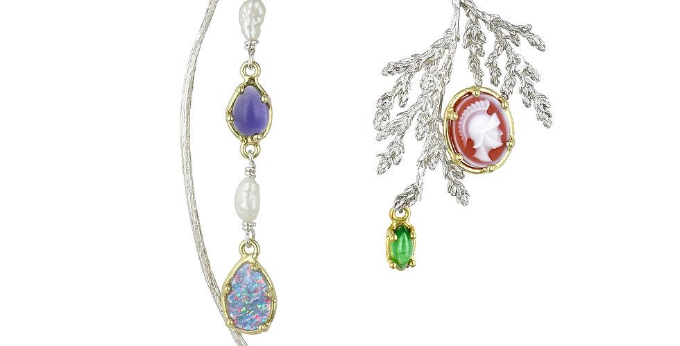 Mis-matched Gemstone Nature Walk Earrings