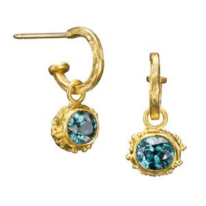 Lori Anne Blue Zircon Drop Earrings