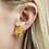 Thumbnail: Double Eucalyptus Flower Stud Single Earring