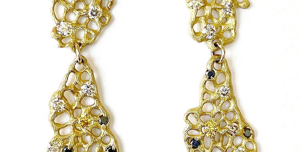 Large Venus Diamond Drop Earrings