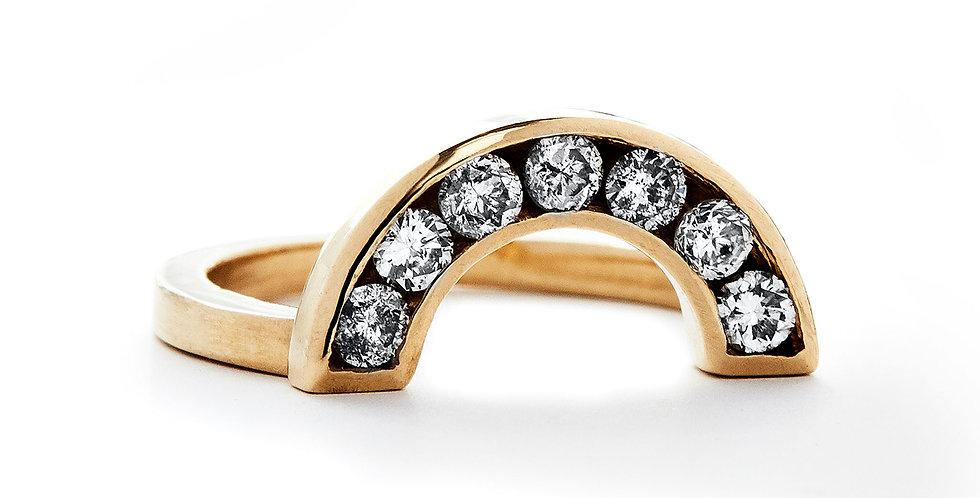 Grey Diamond Rainbow Ring
