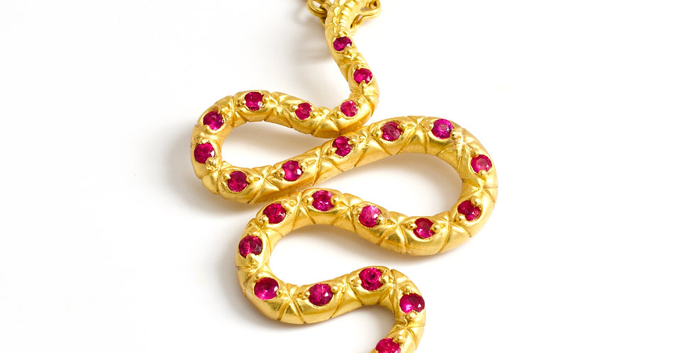 Ruby 22k Snake Pretty Persuasion Necklace