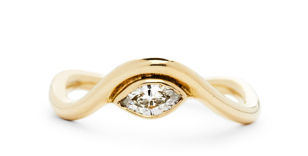 Marquise Diamond Flow Stacking Ring
