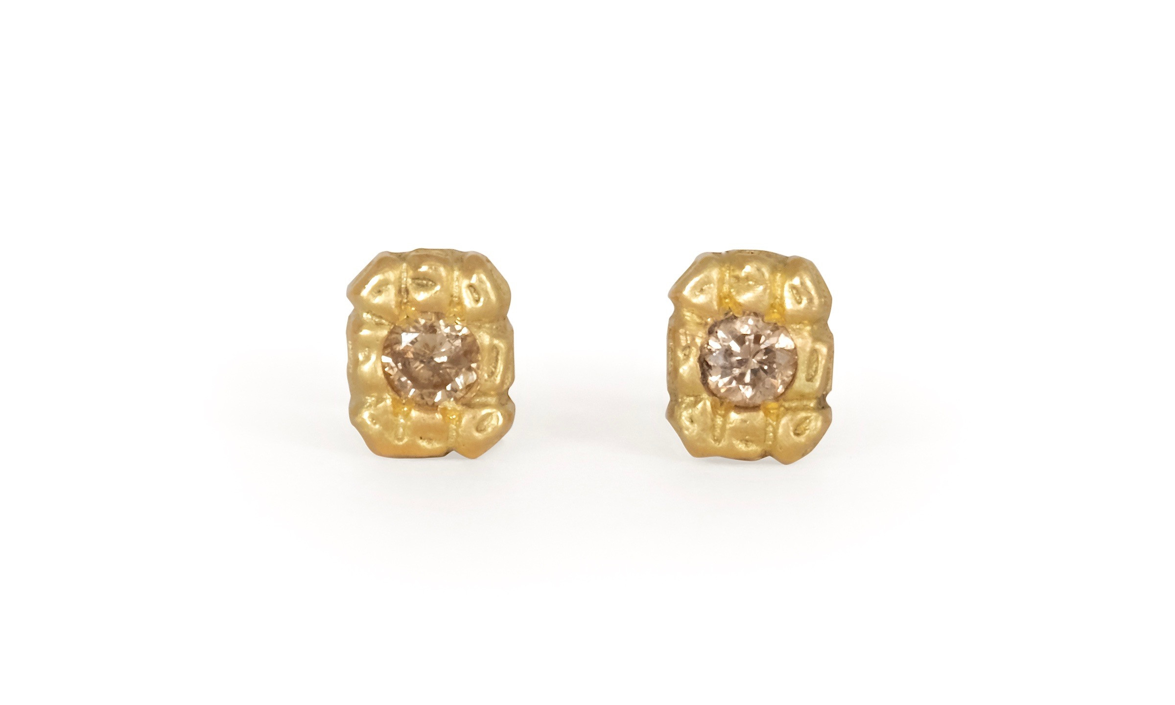Susan Highsmith Gold and Diamond Earrings
