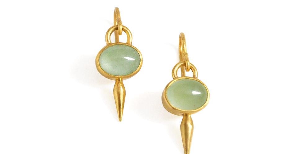 Aquamarine Pod Drop Earrings
