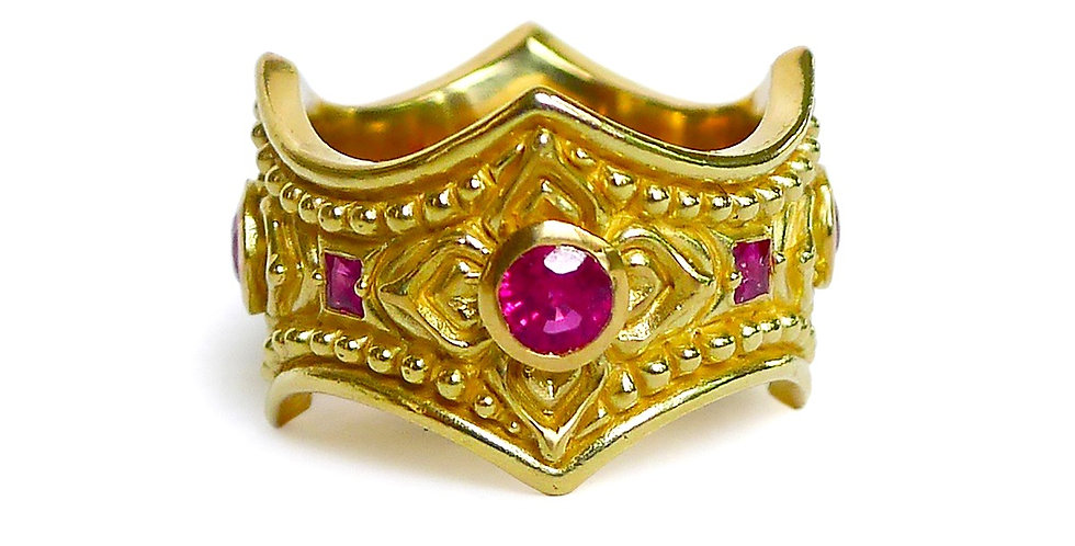 Scallop Ruby Ring