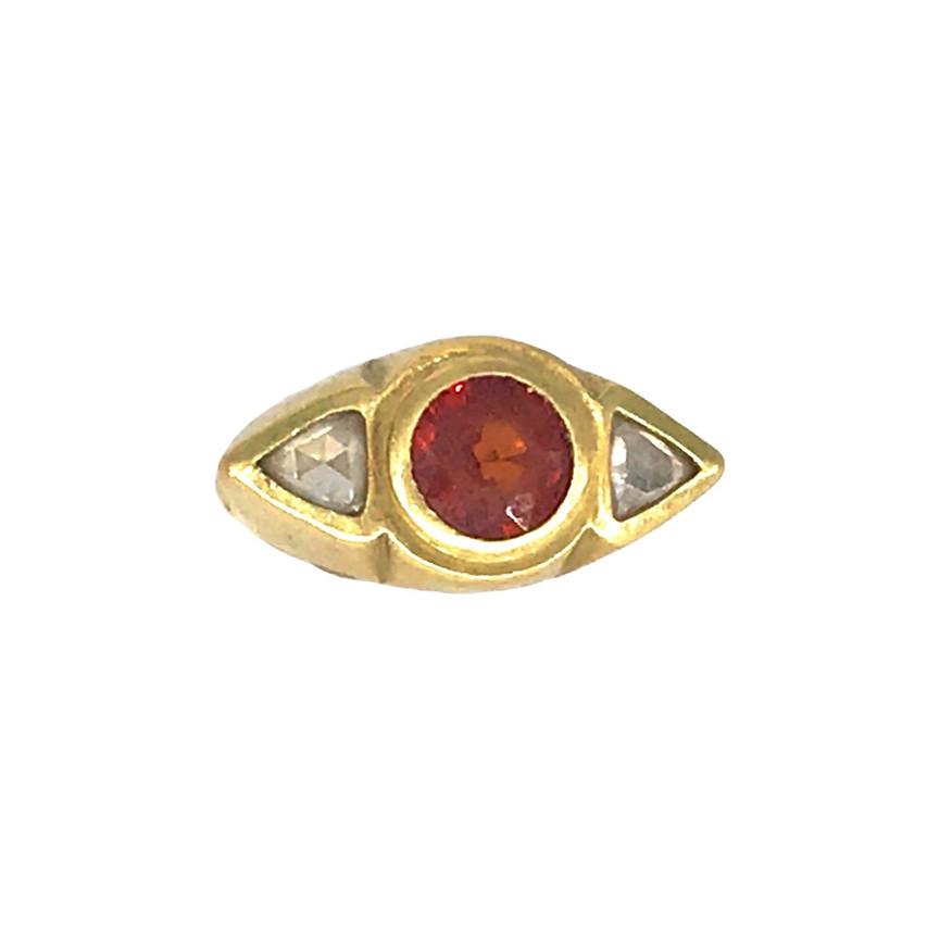 Dori Friedberg- Mandarin Garnet and Diamond Ring