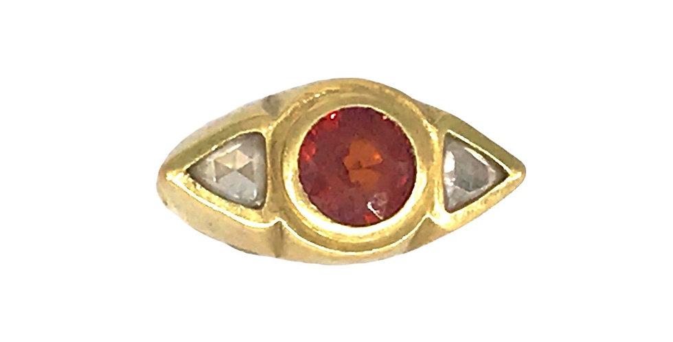Mandarin Garnet and Diamond Aero Ring