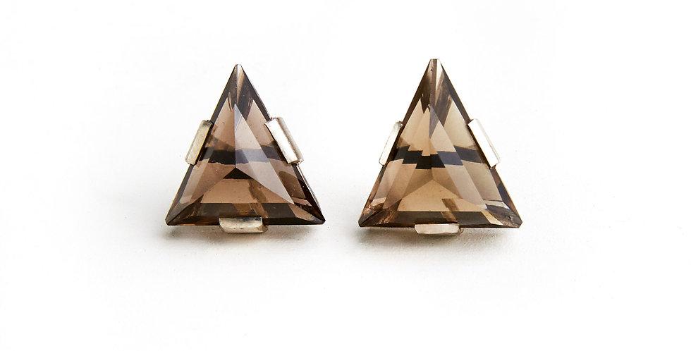 Zod Smokey Quartz Earrings