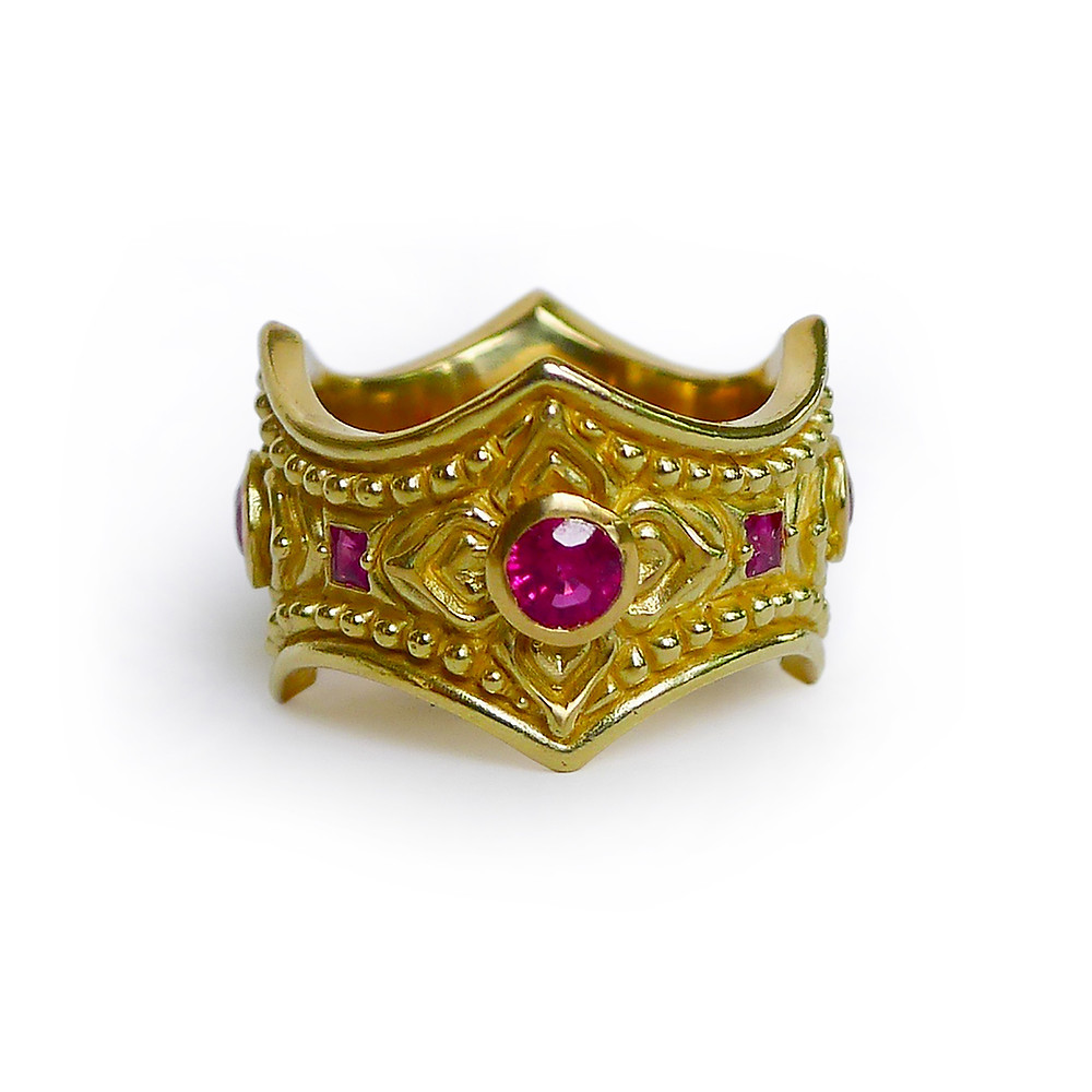 Yellow Gold and Ruby Ring