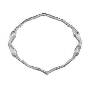 Silver Bud Bangle by Sandrine B. Jewelry
