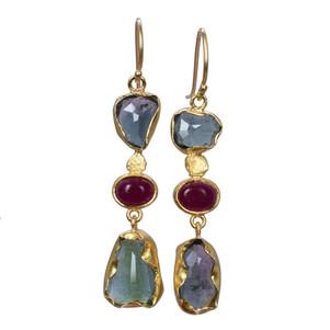 Patricia Kolodny Tourmaline ruffle bezel earrings