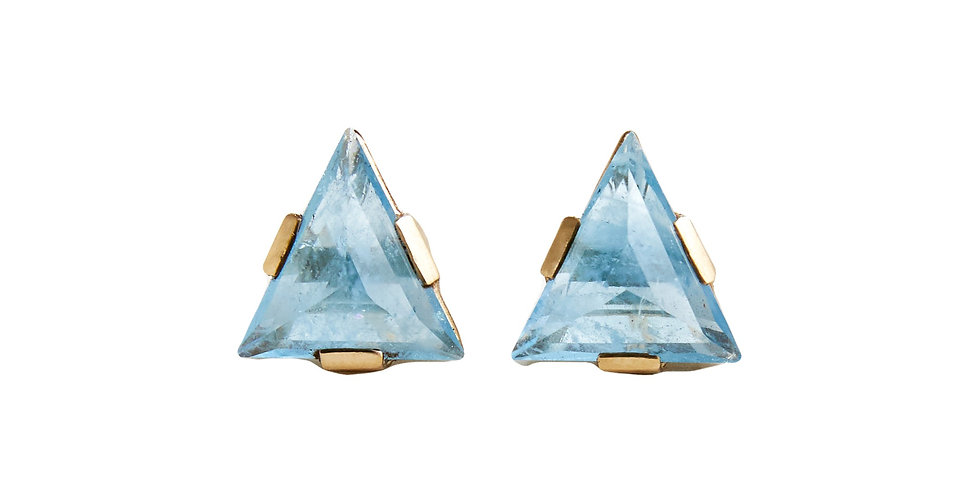 Zod Aquamarine Earrings