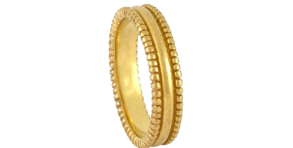 Classic 22k Unisex Bead Ring