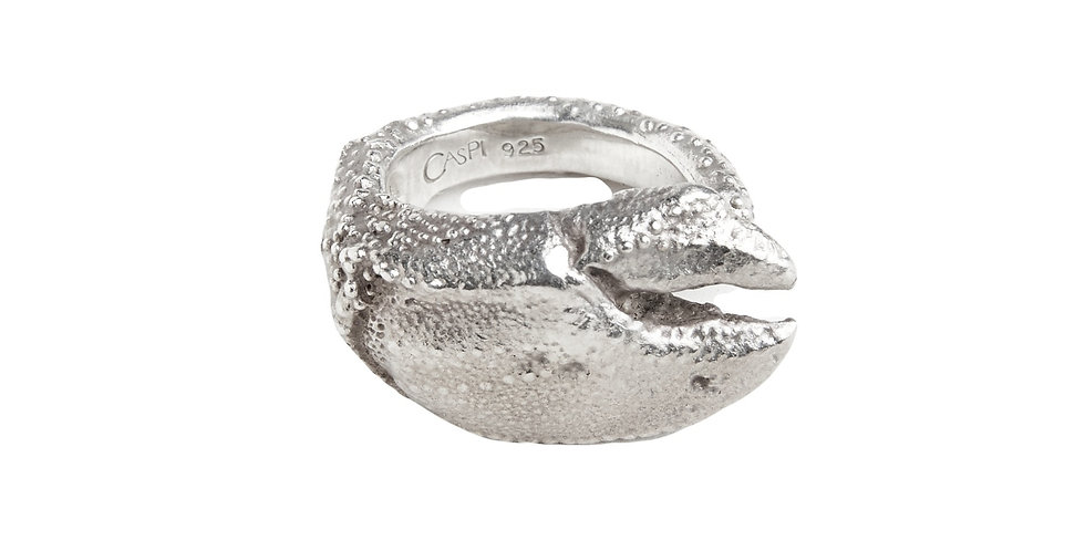 Silver Lobster Claw Ring