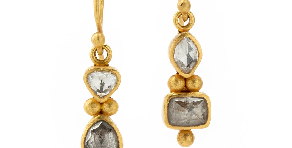 Athena Rose Cut Diamond Earrings
