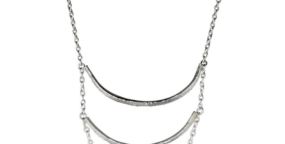 Rattan 3 Tier Cascade Necklace