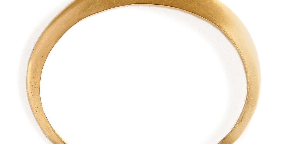 Gold Open Bangle Bracelet