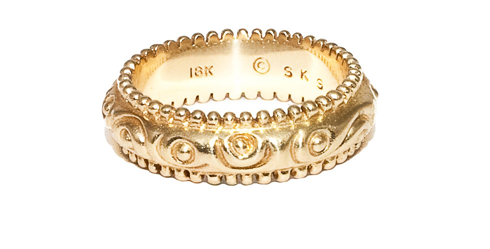 Carved Gold Ring